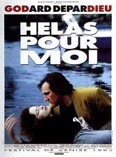 Affiche 120x160cm HÉLAS POUR MOI (1993) Jean-Luc Godard - Gérard Depardieu TBE