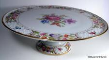 """Schumann EMPRESS Dresden Flowers Oversized 12 1/2"""" Pedestal Cake Plate"""