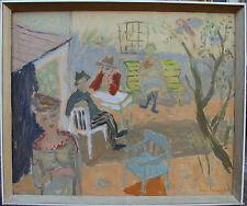 Gerhard Marca de charles 1905-1976, Escena de jardín con Figuras, para 1940/50