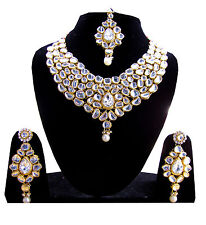 Bridal Jewellery Sets In Silver Colour Chokar Necklace With Earrings For Girls