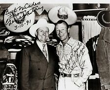 RARE STILL SIGNED ROY ROGERS AND GENE AUTRY