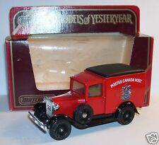 MATCHBOX FORD VAN MODEL A 1930 Y21/Y22 POSTES CANADA POST GR 1/40 IN BOX a