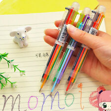 New Creative Cartoon Multi Color Ballpoint Pen Student Retractable Pen Xmas Gift