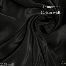 #2 noir  14 momme Tissu en Crêpe de Pure Soie de Chine 114cm L