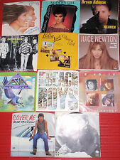 ASSORTED LOT VINTAGE 45'S    11  VINYL RECORDS  EARLY 1980'S