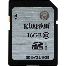 Kingston 16gb SDHC Card Class 10 80mb/s Speed (SD10VG2/16GBFBR)