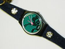 Swatch VELVET UNDERGROUND lady swiss quartz watch on time with leather strap
