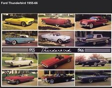 Ford Thunderbird History 1955-1966 Extremely Rare Car Poster/Original Printings!