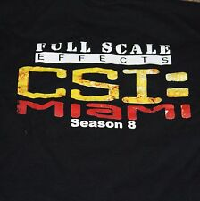 CSI Miami Adult T-shirt Black Large Season 8 Full Scale Effects Crew Cast