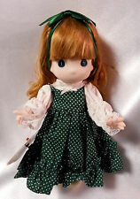 Precious Moments Doll Irish Shannon Children of the World Green with Red Hair 9""