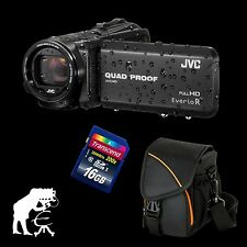 JVC GZ-RX415BEU Everio R, wasserdichter Full HD Camcorder + 16 GB + Action Black