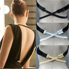 3 Pcs Hot Women Low Back Backless Bra Strap Converter Bra Extender 2 Hooks