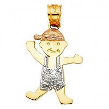 EJCM26906 - SOLID 14K TRICOLOR GOLD BABY BOY CHARM
