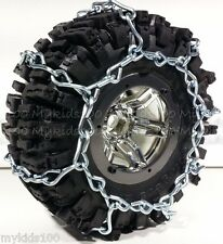 "2 Silver Snow Chains Fit RC4WD #Z-T0097 RC4WD Mud Slinger 2.2"" Tires. Crawler"
