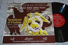 ANSERMET Stravinsky FIRE BIRD SUITE SYMPH. OF PSALMS London FFRR LL 889 LP