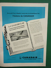 2/1959 PUB CANADAIR GENERAL DYNAMICS CANADAIR CL-44 AIRLINER ORIGINAL FRENCH AD