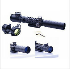New Sale 3-9X32EG Red/Green Crosshair Rifle Scope Rangefinder Reticle 20mm Mount