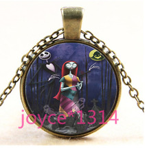 Nightmare Before Christmas Cabochon bronze Glass Chain Pendant Necklace TS-3306