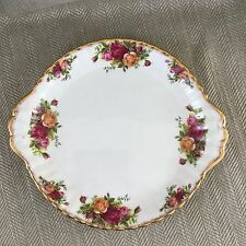 Vintage Royal Albert Old Country Roses Cake Sandwich Plate England China Floral