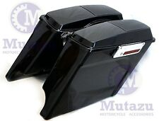 """4"""" Stretched Extended bags 4  Harley Touring Hard Saddlebags w/ 6x9 Speaker lids"""