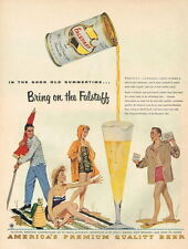 Original 1955 Falstaff  Beer ad Good Old Summertime Tavern Trove 9 x 12 inches