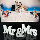 Wedding Reception Sign Solid Wooden Letters Mr & Mrs Table Centrepiece Decor