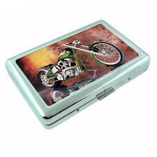 Motorcycle D6 Silver Cigarette Case / Metal Wallet Sexy Cool Bike