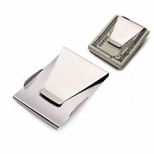 Hot Slim Stainless Steel Money Clip Double Sided Credit Card Holder Portable