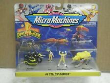 AUTO MORPHIN POWER RANGERS MICRO MACHINES #4 YELLOW RANGER- NEW IN PACKAGE- L173