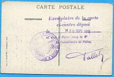 CPA: Ablain-St-Nazaire / Guerre 14-18 / Cachet direction de la police judiciaire