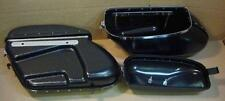 Plastic Bubble Bags Saddlebags for Harley Panhead Black