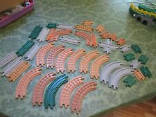 Fisher Price Geo Trax Train Track pieces parts straight crossing short t y lot