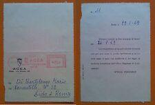 Roma ACEA 1959: Domanda di lavoro