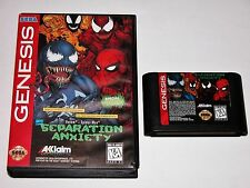 Separation Anxiety Game + Case Sega Genesis *TESTED & CLEANED* Spider-man Venom