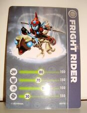CARTE CARD FIGURINE SKYLANDERS - FRIGHT RIDER