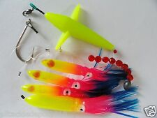 DAISY CHAIN BAIT RIG BIRD TUNA MARLIN FISHING TROLLING LURE SQUID-RAINBOW
