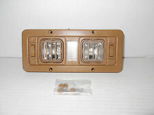 ^RV 12 VOLT HELIX DOUBLE SWIVEL INTERIOR LIGHT TAN HD-0104