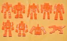 VERY RARE CEREAL PREMIUM MEXICAN FIGURES Transformers ORANGE TINYKINS