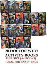 NEW  20 x DOCTOR WHO ACTIVITY BOOKS - STICKERS MASKS - IDEAL PARTY BAG GIFT