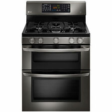 LG LDG3036BD 6.1 cu. ft. Double-Oven Gas Range w/EasyClean - Black Stainless