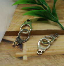 Free shipping 15pcs Delicate Tibet silver police handcuffs charm connector