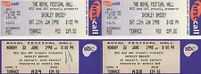 SHIRLEY BASSEY - THE ROYAL FESTIVAL HALL 1998 - 6 USED TICKETS