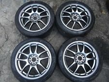 "17"" x 7 +47 5x100 Work Emotion Subaru Impreza WRX GDB GC8 STi Wheels Rims RARE"