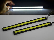 2× Wasserdicht 12V LED COB-Auto-DRL Fahren Tagfahrlicht Nebelscheinwerfer Lampen