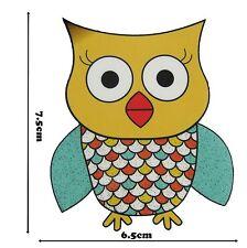 Owls Iron on Hot Fix Smooth Vinyl Motif Glitter Motif Patch Applique Badge 388