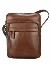 Visconti VT1 Vintage Tan Leather Cross-Body Style Top Zip Shoulder Messenger Bag
