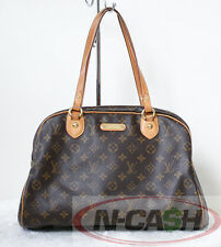 Authentic $1070 Louis Vuitton Monogram Montorguiel GM LV Handbag