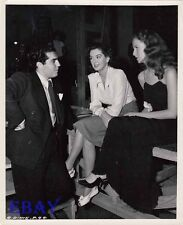Rosalind Russell candid on set VINTAGE Photo Betsy Blair Guilt Of Janet Ames