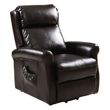 Electric Lift Power Chair Recliners Chair Remote Living Room Furniture Brown