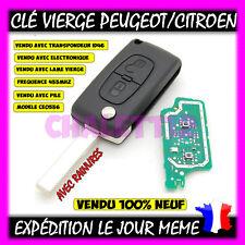 Clé avec électronique à programmer Citroen C1 C2 C3 C4 C5 2 bouton avec rainure